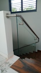 Panel SS Staircase Glass Railing, Mounting Type: Floor