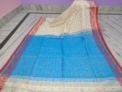Santipur handloom Casual Wear Khadi Cotton Silk Jamdani Border Design Saree
