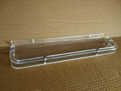Acrylic D Wall Shelf (12 Inches)