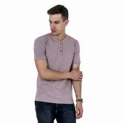 Cotton Plain Men Half Sleeve Casual Wear T- Shirt
