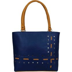 Generic Blue Fashionable Shoulder PU Handbags, For Casual Wear, Size: Free Size