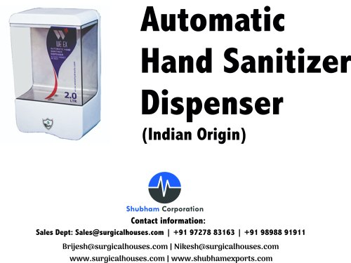 Automatic Hand Sanitiser Dispenser 2L