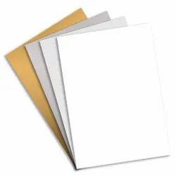 Aluminium Metal Sheet For Sublimation - White/Golden/Silver, 0.45mm
