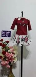 AGS Red Kids Skirt Top