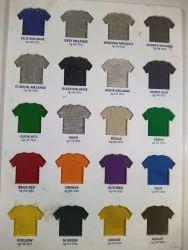 printed & plain Mulit Cotton Round nick T-shirt