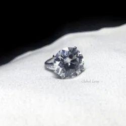 Round Cut Moissanite Ring Engagement Ring Diamond Ring for Women Promise Ring Anniversary Gift