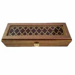 Wooden LED Chain Box, 10 X 3 X 2.25 Inches, Rectangle