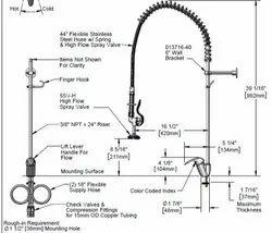 T&S Pre rinse Spray Unit EX-1DP00-H