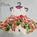 FLOWER PRINTED SLEEVES LESS LONG FROCK FOR GIRLS