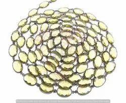 Lemon Quartz Bezel Chain