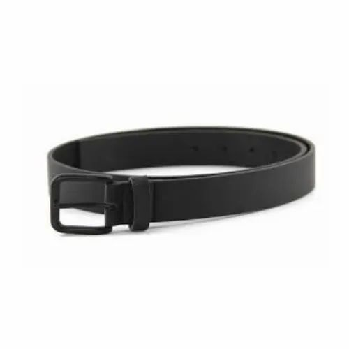 Men\'s Matte Black Reversible Buckle Leather Belt