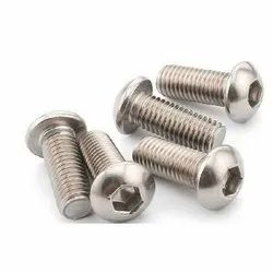 Stainless Steel SS Button Hd Allen Cap Screw, Size: M3 To M24