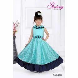 Girl D No 1022 Emboidered Shringi Partywear Kids Gown