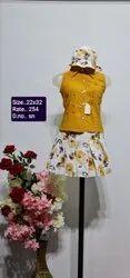 SN Yellow Kids Skirt Top