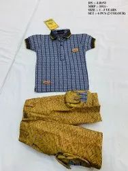 NEW FANCY COLLAR T- SHIRT & PENT SET FOR KIDS