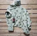 Regular Fit Green Mens Wear Printed Pure Cotton Fabric Shirt, Size: M-xl