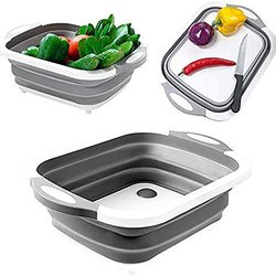 Silver Plastic Washing Bowl and Strainer, For Home