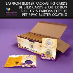 Saffron Blister Packaging Cards