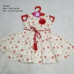 NEW COLORFUL DESIGN SLEEVES LESS FROCK FOR GIRLS