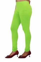 Cotton Lycra Bio Wash 180 Gsm Churidar Ladies Stretchable Legging, Size: Free Size