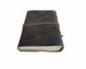 Vintage Black Flap Closure Handmade Leather Journal