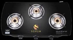 Aluminum Black Sohum Gas Stove, For Kitchen