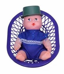 Blue Plastic Gudda with Basket, For Playing Kids