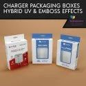 Charger Boxes with Hybrid UV and Embossing