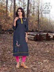 Thankar Heavy Premium Cotton With Embroidery Kurti