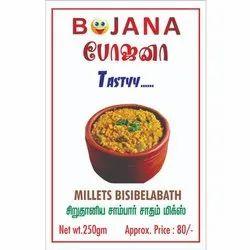 Millets Bisibelabath, 250gm, Packaging Type: Packet