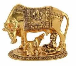 Kamdhenu Cow With Calf Statue