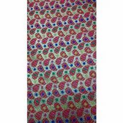 48 inch Embroidered Designer Jacquard Silk Fabric, GSM: 150