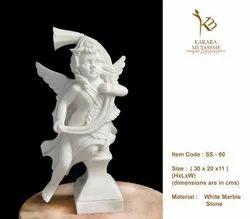 White Marble Stone Mini Bust Statues