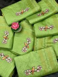 Heavy  Bonga Silk Indian Wear Saree