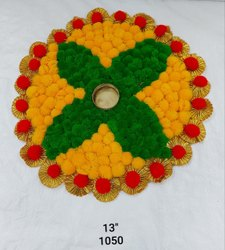 Artificial Flower Rangoli Diya