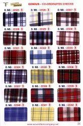 Co-Ordinates Checks School Uniform Shirting Fabric