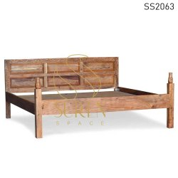 Handcrafted Indian Solid Wood Hospitality Beds Design