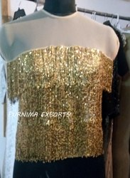 Gold Hand Beaded Tops / Evening Tops / Party Tops / Hand Embellished Tops