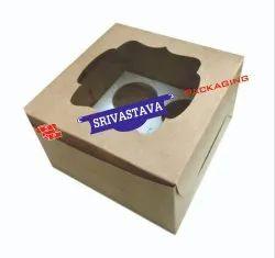 Kraft Paper 4 Cupcake Boxes