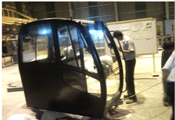 JCB Cabin Assembly Complete Sheet Metal Components