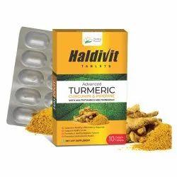 Haldivit Tablets (Turmeric Curcumin Piperine tablets)