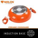 26cm Nirlon Ceramic Induction Base Deep Kadai