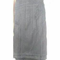 Gray Plain Raw Silk Fabric, GSM: 100