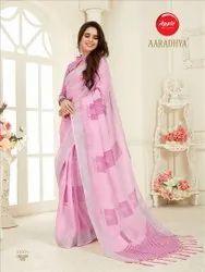Elegance Linen Saree