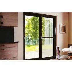 Partition Doors Brown UPVC Heavy Duty Patio Door, For Home, Office