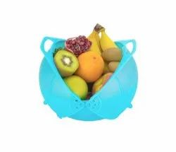 Plastic Multicolor Vegetable And Fruit Storage And Washing Smart Basket, For Home, Size: Standers