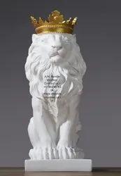 King Lion Stone Sculpture Art