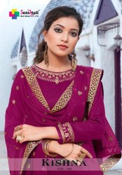 Sanskruti Silk Mills Kishna Vol-4 Jam Silk Straight Salwar Suits Catalog