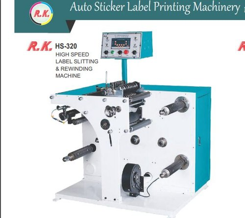 High Speed Label Slitting & Rewinding Machine