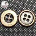 Golden Metal Round Button, Size/dimension: 18 L